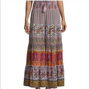 Silk Calypso Saint Barth Bohemian Maxi Skirt